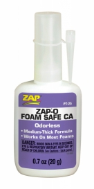 ZAP ca foam odourless (White / PT-25)