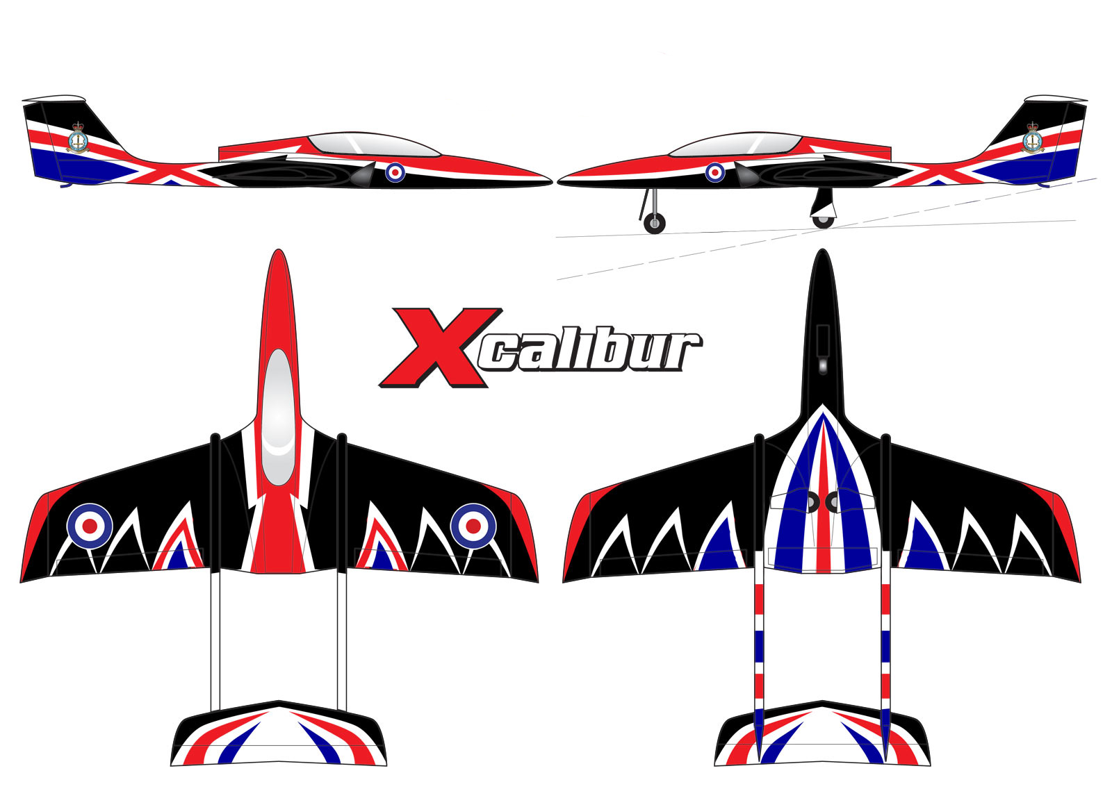 Jsm Xcalibur Large Sports Jet Raf Scheme 163 1 679 99