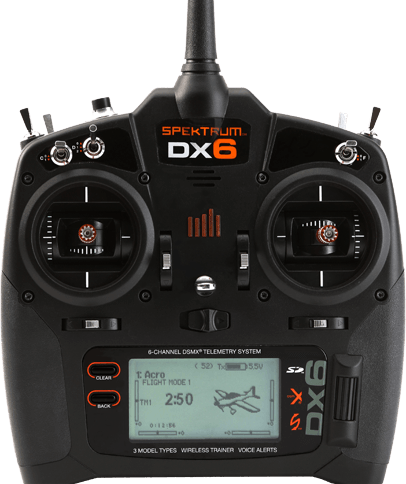 Spektrum DX-6radio 2.4ghz Tx and AR 610 Rx